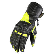 Texpeed Black & Hi-Vis Protective Leather Gloves