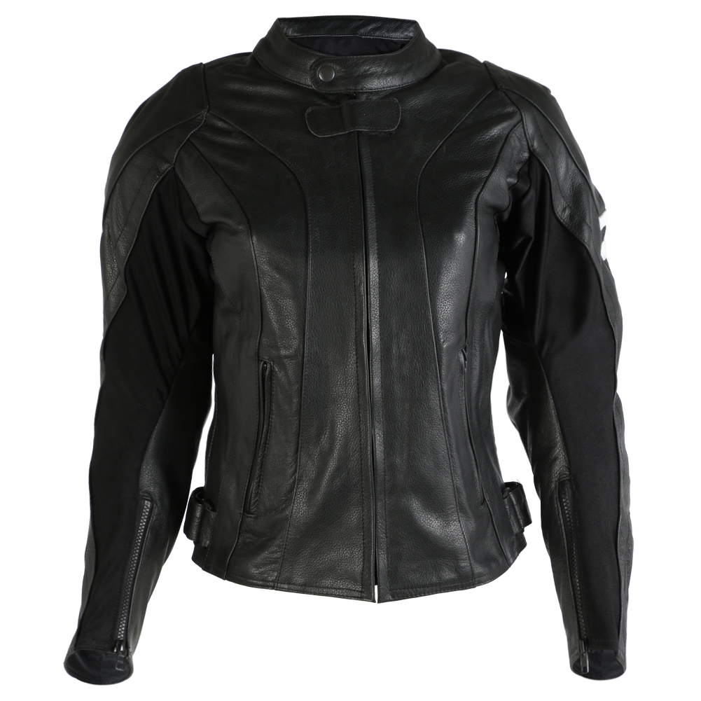 Texpeed Womens Leather Racing Jacket