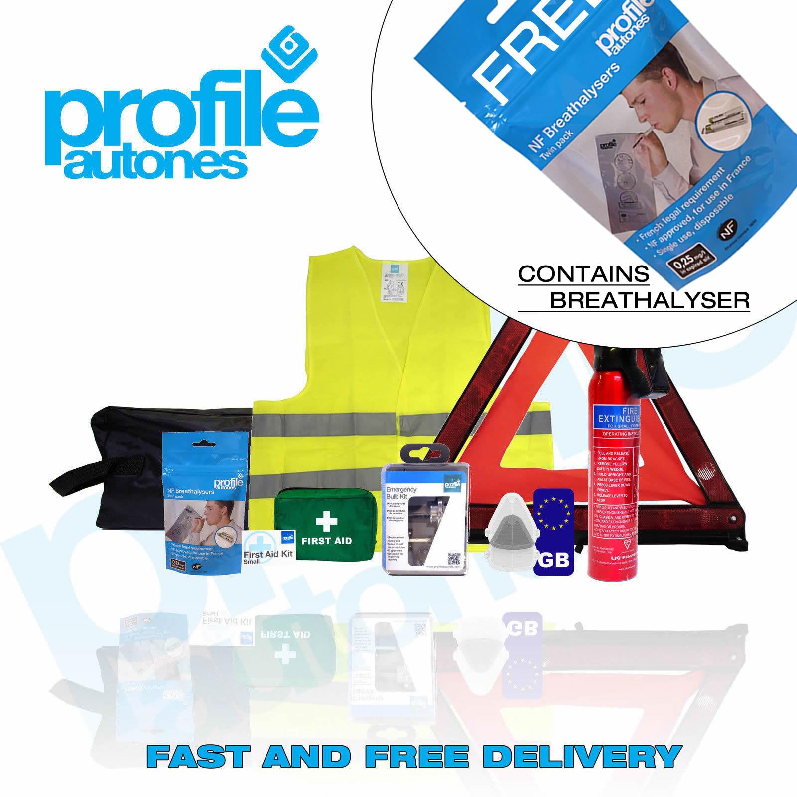 B European France Travel Kit with Breathalysers Beam Deflectors