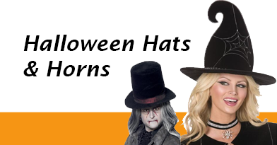 Devil horns, witch hats and top hats to complete your Halloween Costume