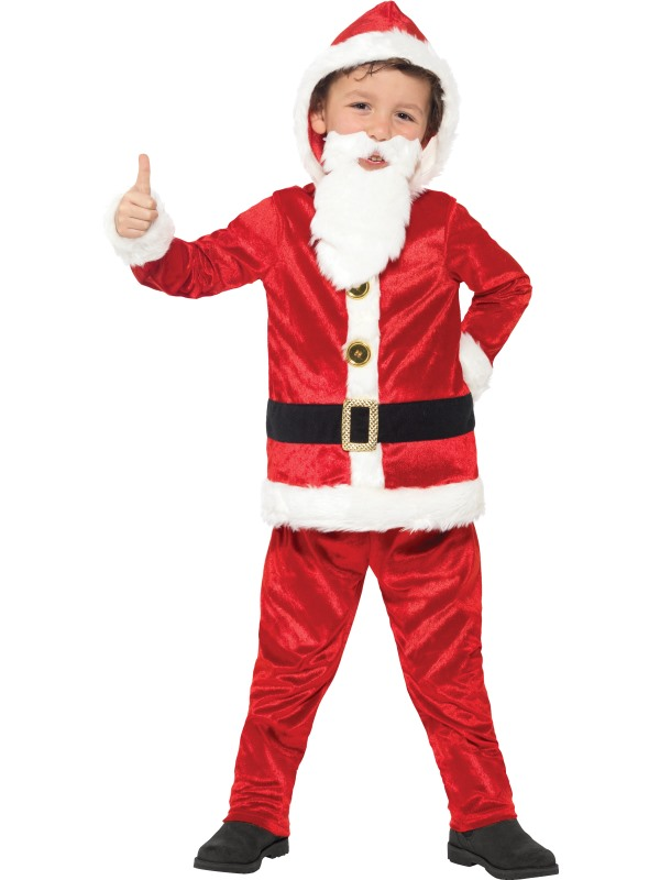 Boy's Jolly Santa Fancy Dress Costume