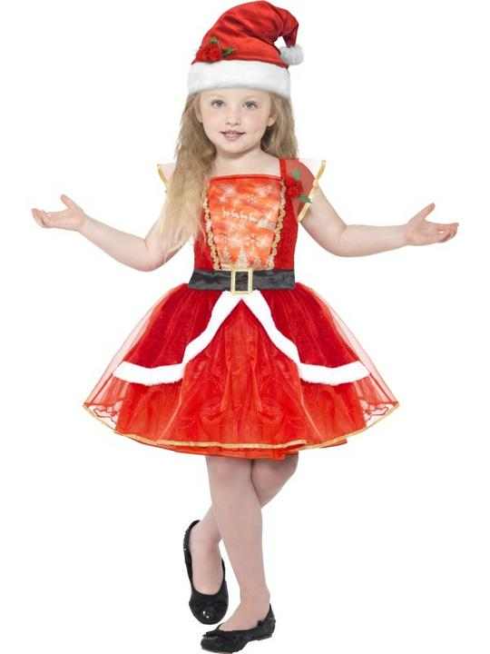 Girl's Miss Santa Fancy Dress Costume Thumbnail 1