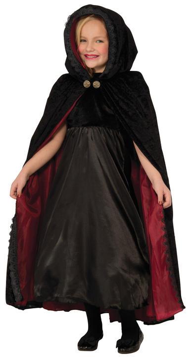 Gothic Vampiress Cape Kids Fancy Dress Costume