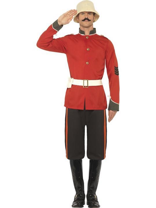 Men's Boer War Soldier Fancy Dress Costume Thumbnail 1