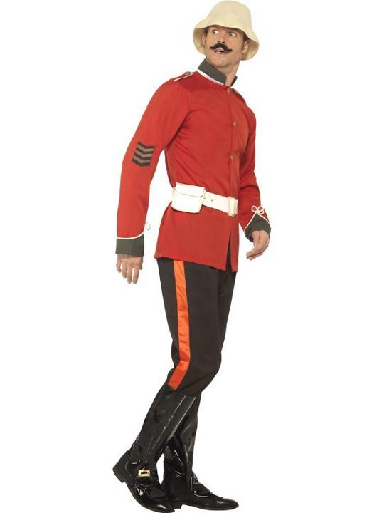 Men's Boer War Soldier Fancy Dress Costume Thumbnail 2