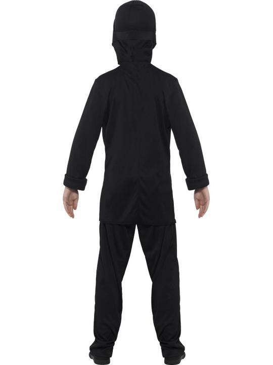 Boy's Black  Ninja Assassin Fancy Dress Costume Thumbnail 2
