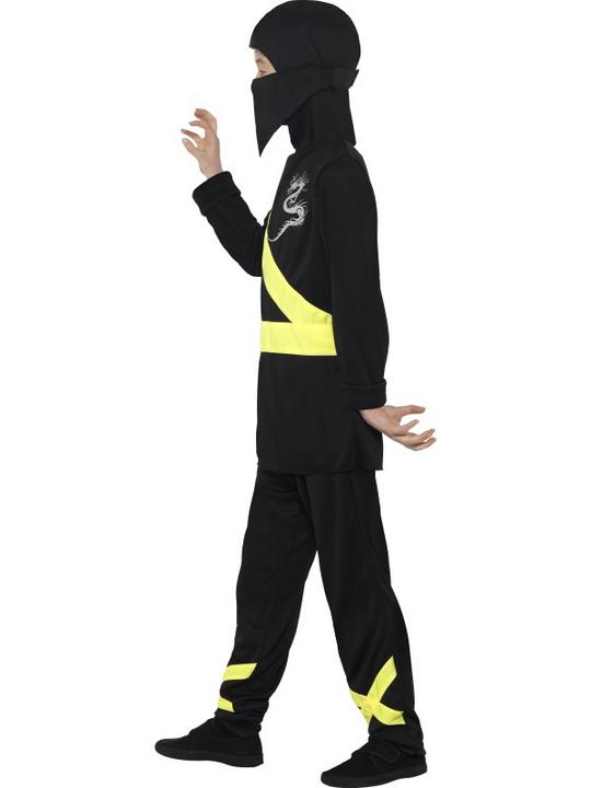 Boy's Black  Ninja Assassin Fancy Dress Costume Thumbnail 3