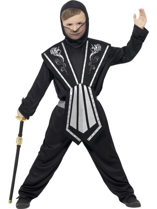 Boy's Ninja Fancy Dress Costume Thumbnail 1