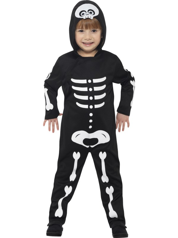 Boy's Skeleton Toddler Fancy Dress Costume