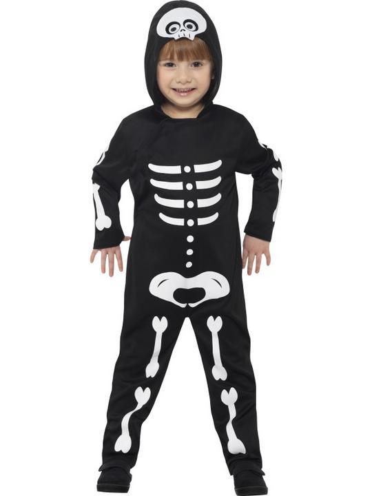 Boy's Skeleton Toddler Fancy Dress Costume Thumbnail 1