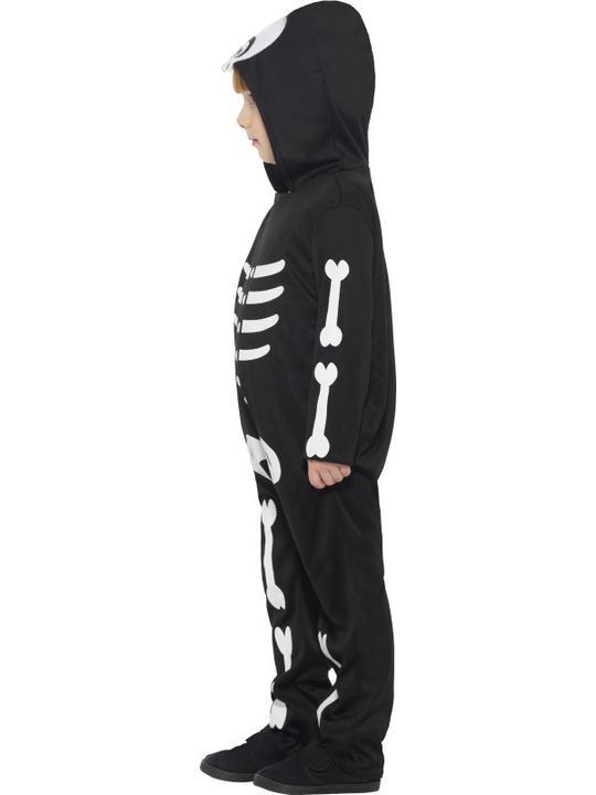 Boy's Skeleton Toddler Fancy Dress Costume Thumbnail 6