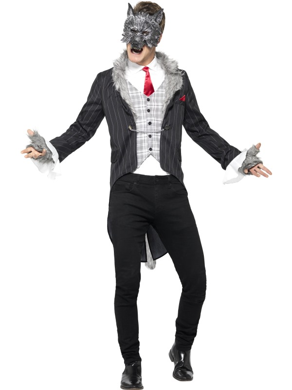 Men's Deluxe Big Bad Wolf Fancy Dress Costume