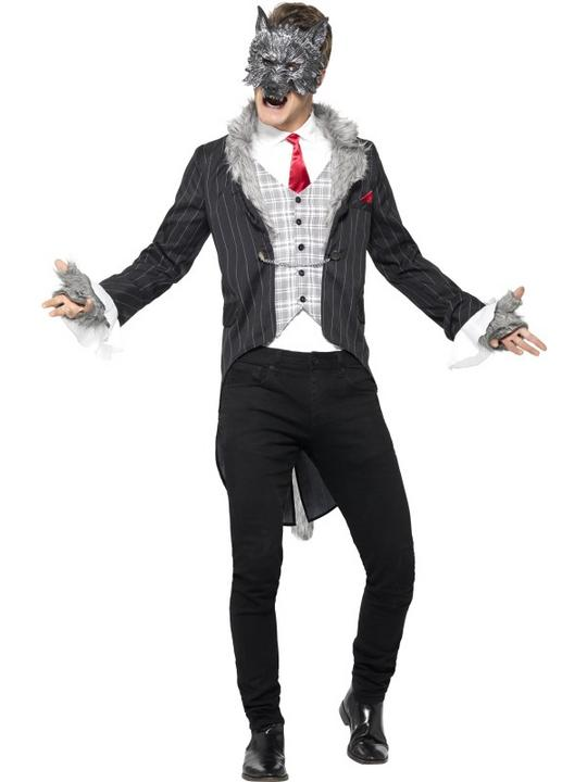 Men's Deluxe Big Bad Wolf Fancy Dress Costume Thumbnail 1