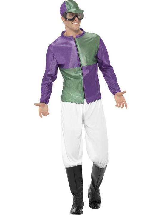 Men's Jockey Fancy Dress Costume Thumbnail 1