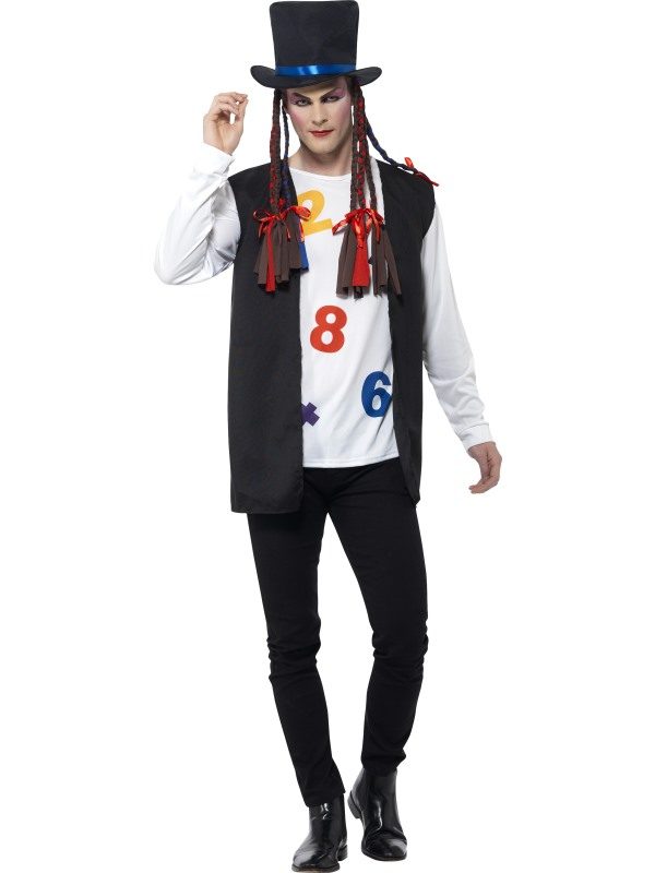 Men's 80's Pop Star Fancy Dress Costume