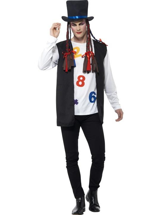 Men's 80's Pop Star Fancy Dress Costume Thumbnail 1