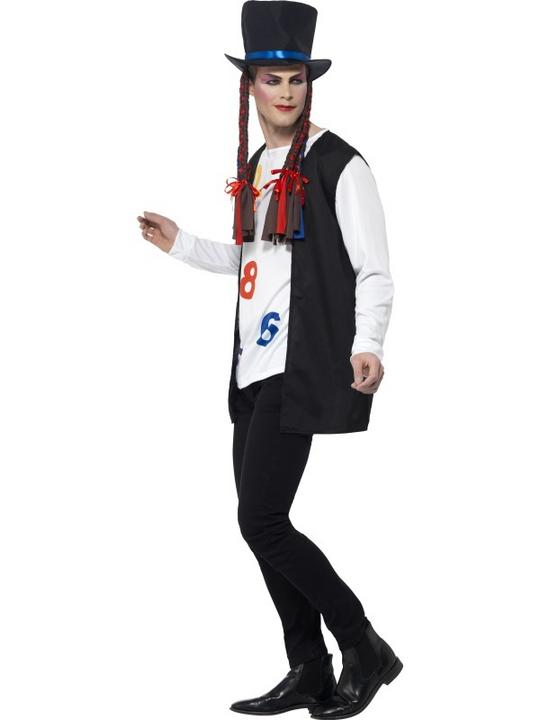 Men's 80's Pop Star Fancy Dress Costume Thumbnail 3