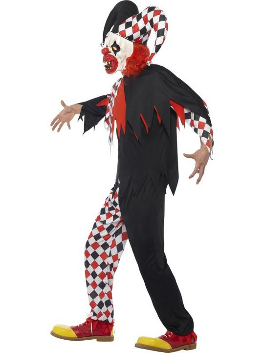 Men's Crazed Jester Fancy Dress Costume Thumbnail 3