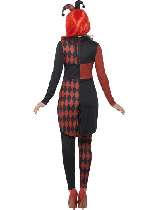 Women's Sinister Jester Fancy Dress Costume Thumbnail 2