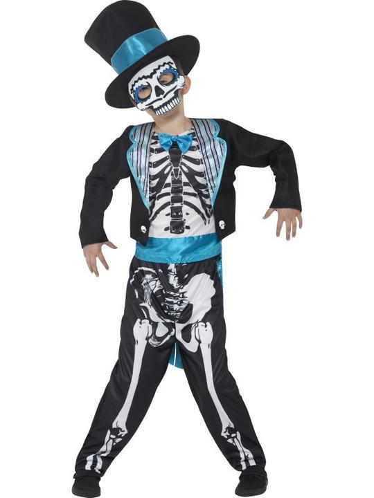 Boy's Day of the Dead Groom Fancy Dress Costume Thumbnail 1