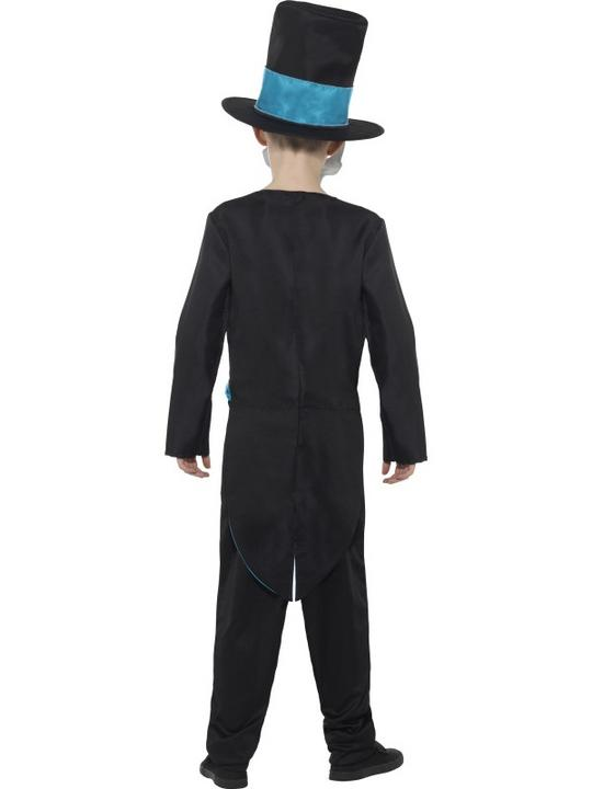 Boy's Day of the Dead Groom Fancy Dress Costume Thumbnail 2