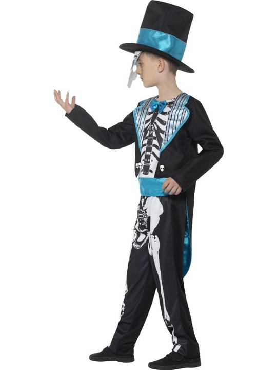 Boy's Day of the Dead Groom Fancy Dress Costume Thumbnail 3