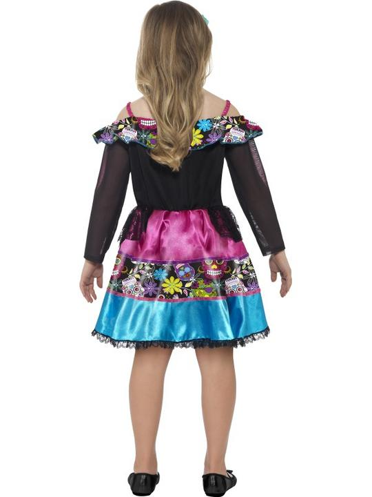 Girl's Day of the Dead Sweetheart Fancy Dress Costume Thumbnail 2