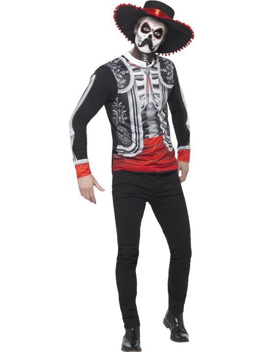 Men's Day of the Dead El Se±or Fancy Dress Costume Thumbnail 1
