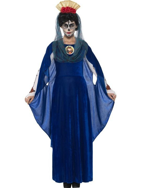 Women's Day of the Dead Sacred Mary Fancy Dress Costume Thumbnail 1