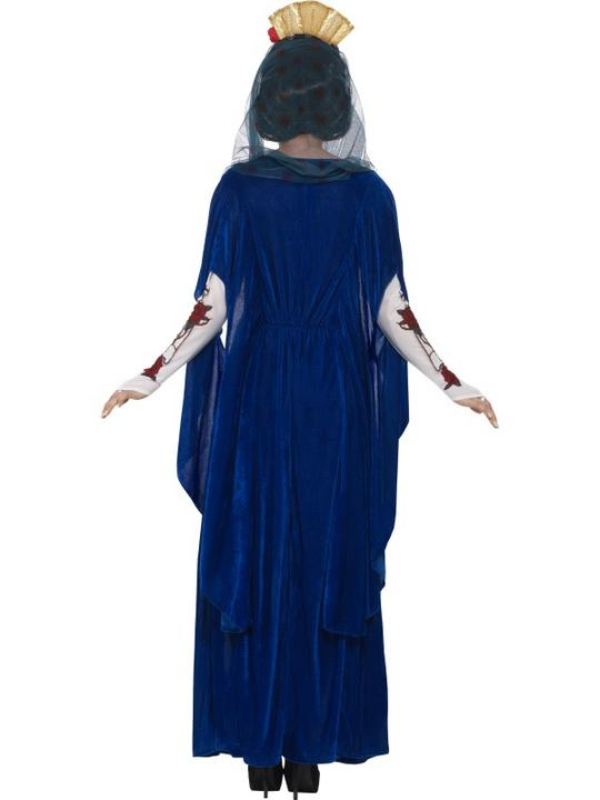 Women's Day of the Dead Sacred Mary Fancy Dress Costume Thumbnail 4