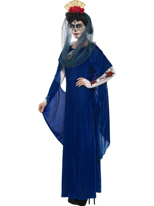 Women's Day of the Dead Sacred Mary Fancy Dress Costume Thumbnail 5