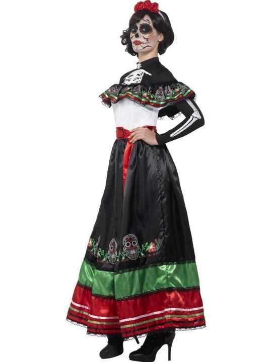 Women's Day of the Dead Senorita Fancy Dress Costume Thumbnail 2