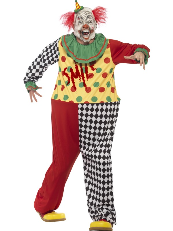Men's Sinister Clown Fancy Dress Costume