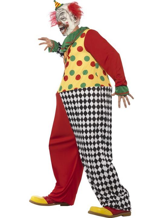Men's Sinister Clown Fancy Dress Costume Thumbnail 3