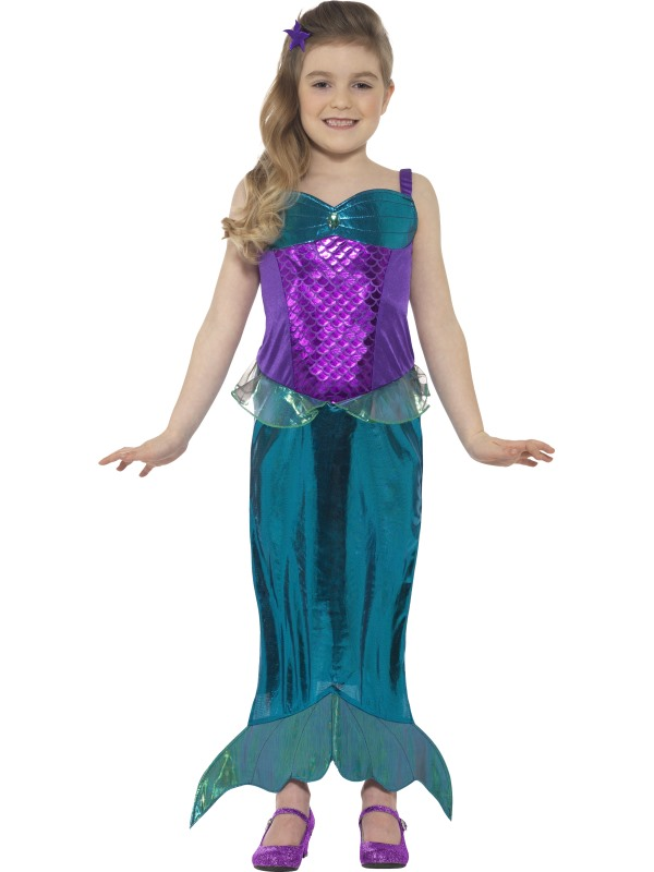 Girl's Magical Mermaid Fancy Dress Costume
