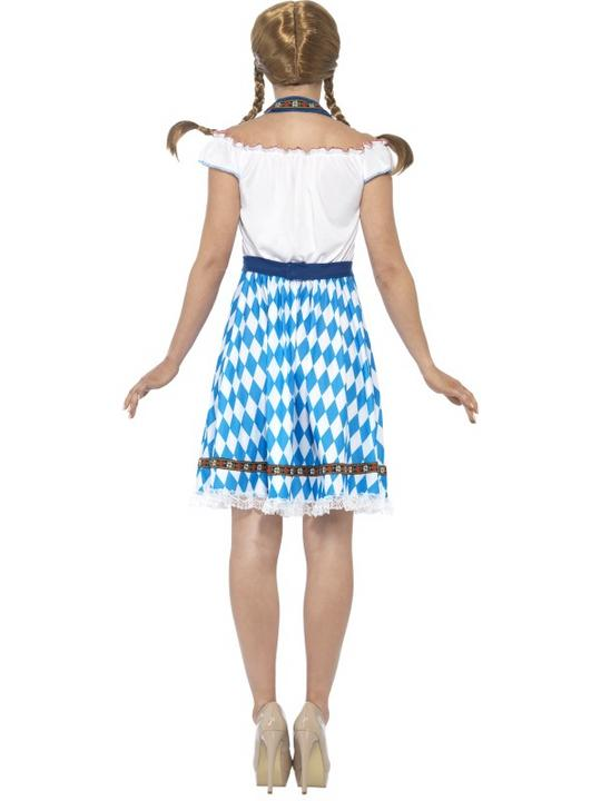 Women's Bavarian Maid Fancy Dress Costume Thumbnail 2