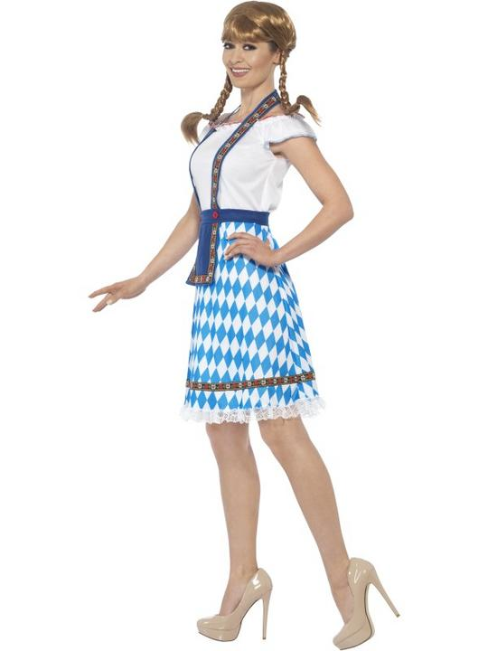 Women's Bavarian Maid Fancy Dress Costume Thumbnail 3