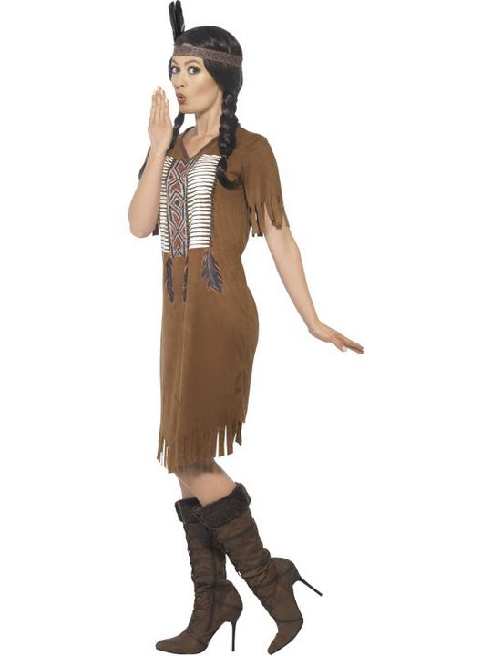 Women's Native Western Warrior Princess Fancy Dress Costume Thumbnail 2