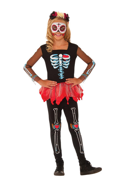 Scared to the Bone Girl's Fancy Dress Costume Thumbnail 1