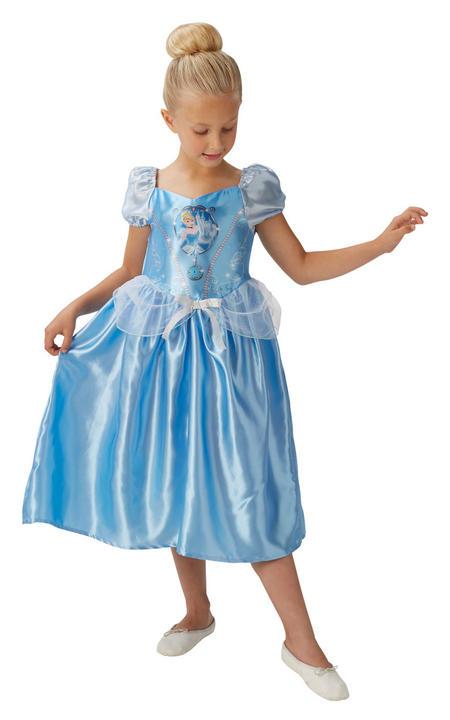 Girl's Disney Fairytale Cinderella Fancy Dress Costume Thumbnail 1