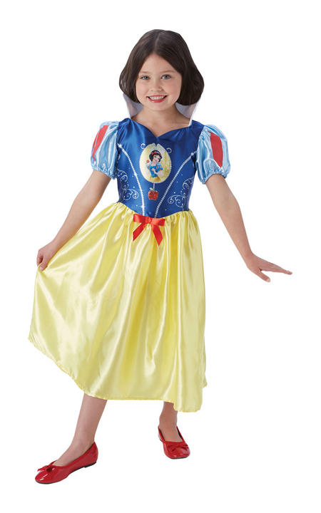 Girl's Disney Fairytale Snow White Fancy Dress Costume Thumbnail 1