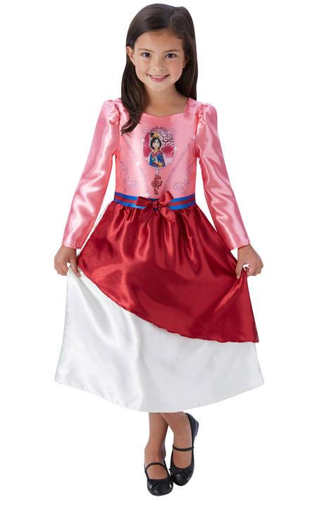Girl's Disney Fairytale Mulan Fancy Dress Costume Thumbnail 1