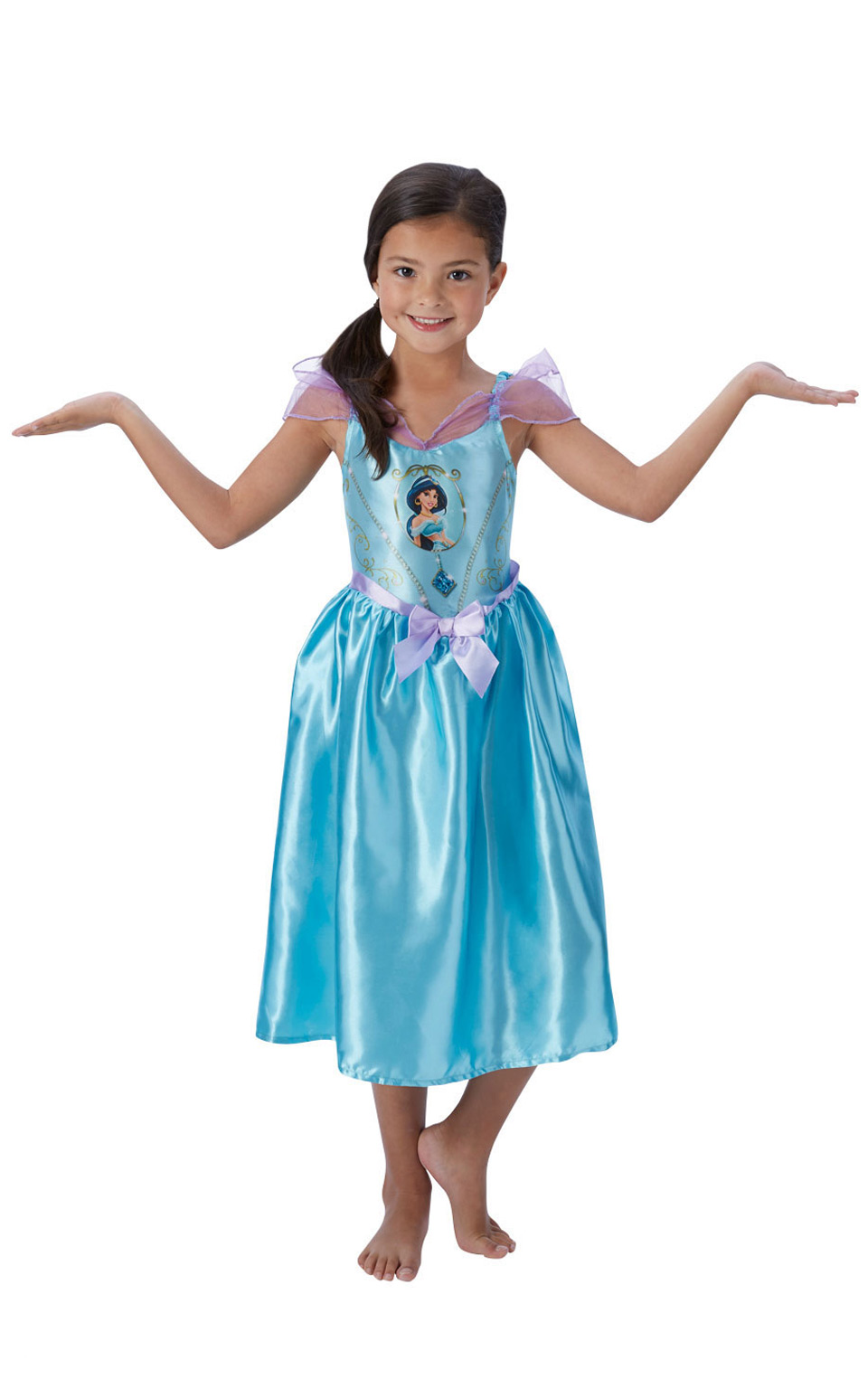 girl 39 s disney fairytale jasmine fancy dress costume. Black Bedroom Furniture Sets. Home Design Ideas