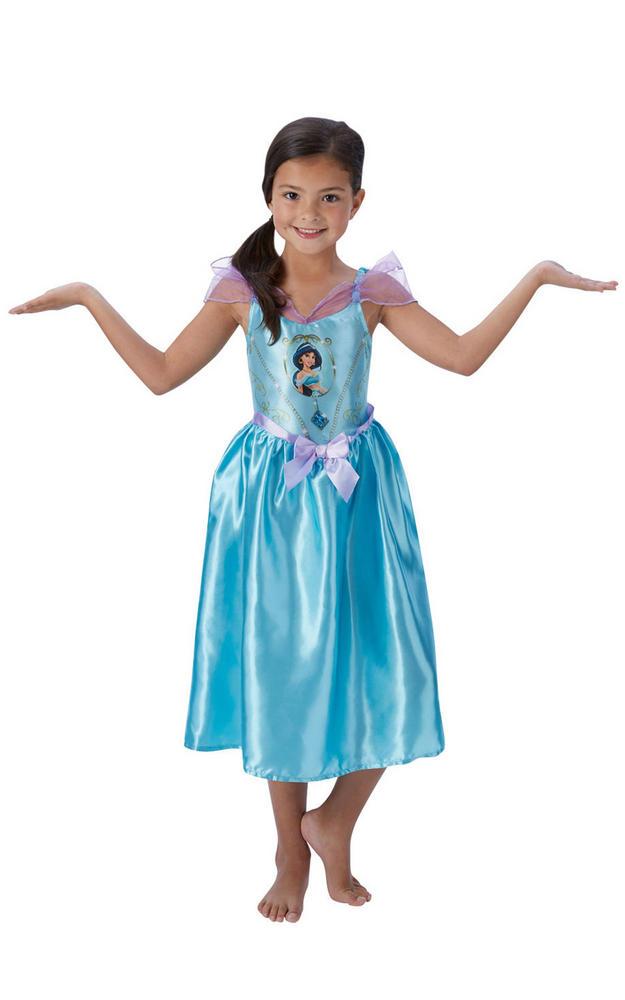 Girl's Disney Fairytale Jasmine Fancy Dress Costume