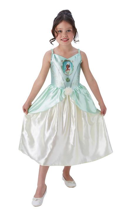 Girl's Disney Fairytale Tiana Fancy Dress Costume Thumbnail 1