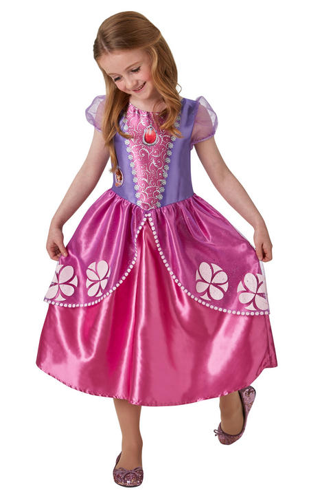 Girl's Classic Disney Princess Sofia Fancy Dress Costume Thumbnail 1
