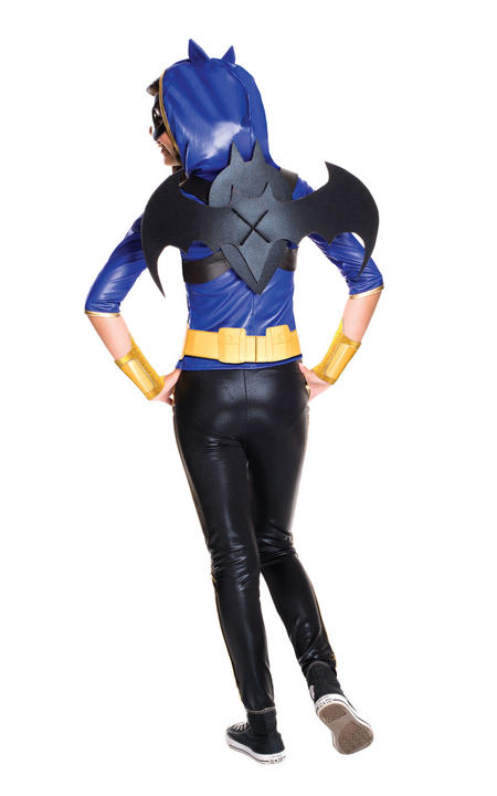 Girl's Deluxe DC Superhero Batgirl Fancy Dress Costume Thumbnail 2
