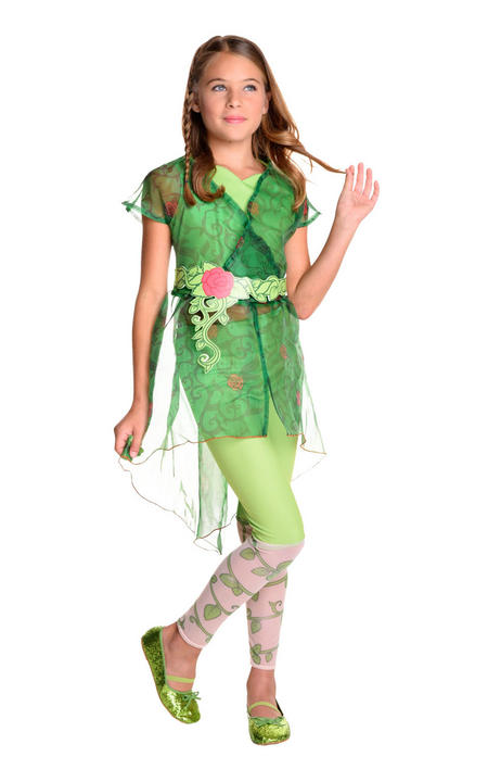 Girl's Deluxe DC Hero Poison Ivy Fancy Dress Costume Thumbnail 1