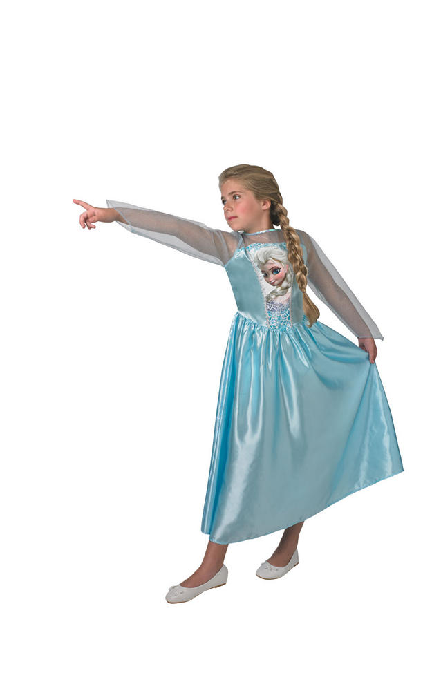 Classic Elsa Disney Frozen Girl's Fancy Dress Costume