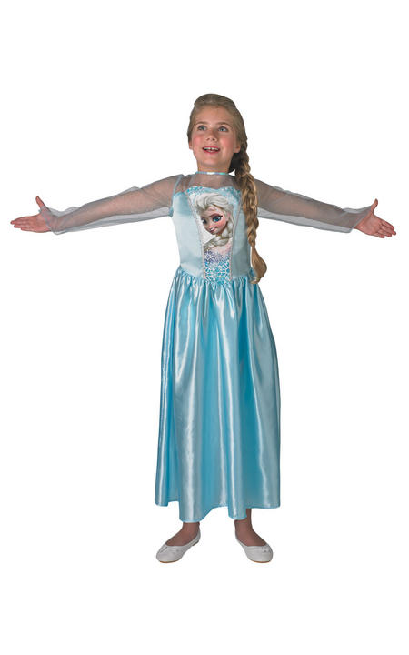 Classic Elsa Disney Frozen Girl's Fancy Dress Costume Thumbnail 2